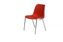 S07414 Chromed steel chair with coloured polypropylene seat