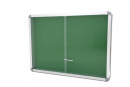 S07416 Wallmounted notice board with aluminium structure, dimensions 120x90 cm