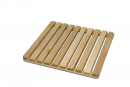 S07434 Wooden shower grid with rubber feet